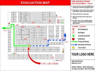 know your exit instantevac evacuation maps signs plans